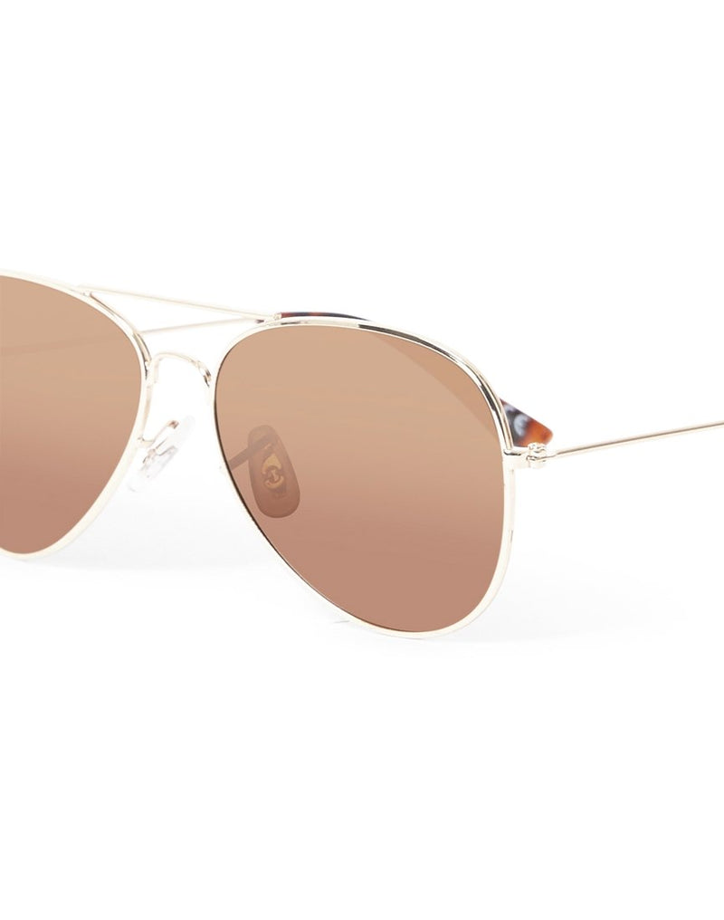 The Idle Man - Polarised Aviator Sunglasses Gold