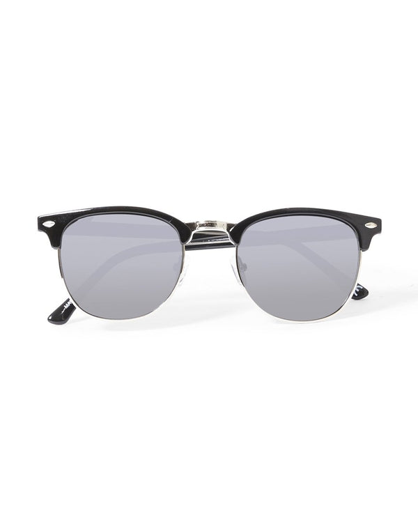 The Idle Man - Polarised Clubmaster Sunglasses Black
