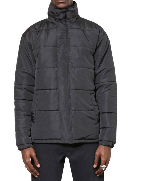 The Idle Man - Puffer Jacket Black