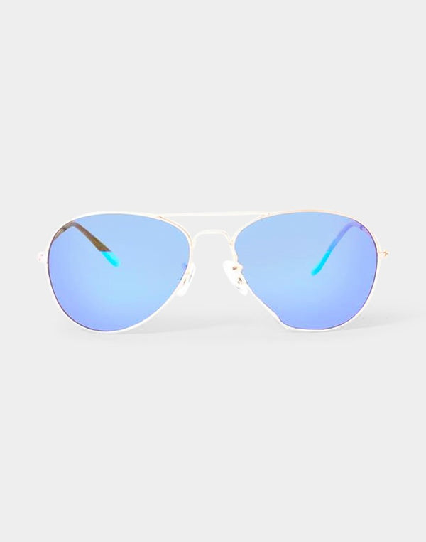 The Idle Man - Revo Aviator Sunglasses Gold