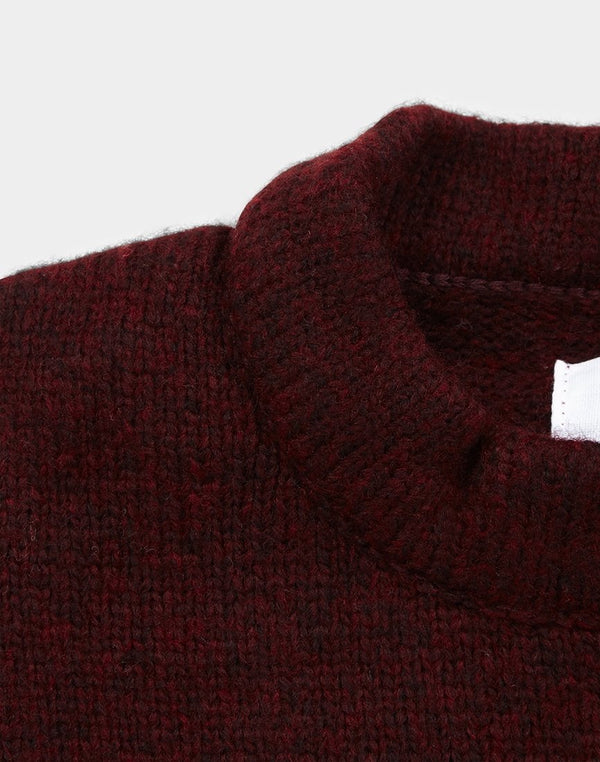 The Idle Man - Rib Knit Jumper Burgundy