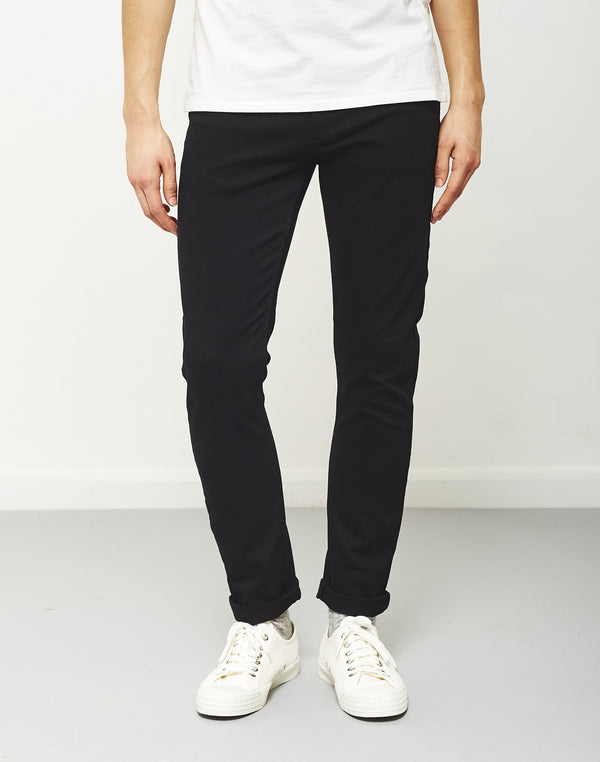 The Idle Man - Slim Fit Jeans Black