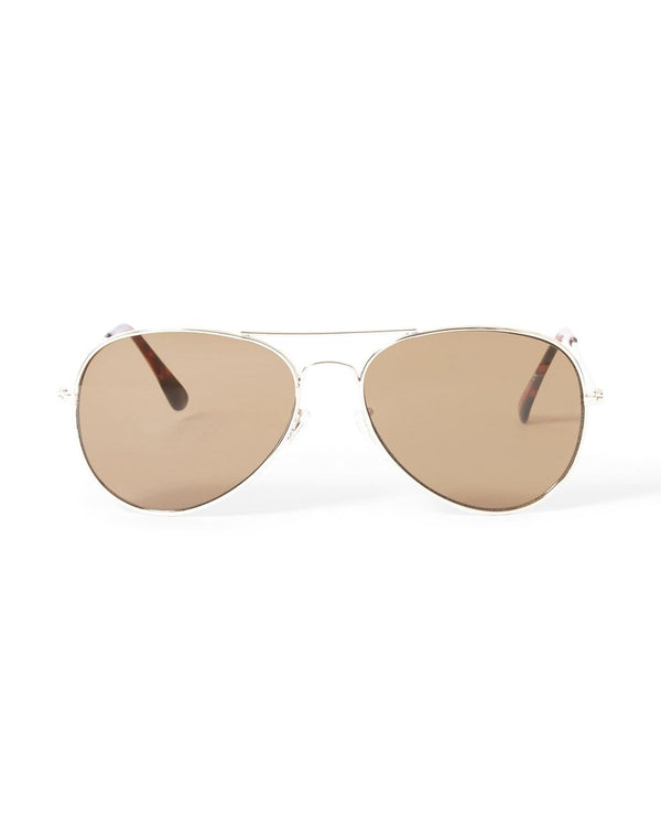 The Idle Man - Aviator Sunglasses Gold