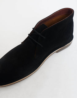 The Idle Man - Suede Desert Boot Black