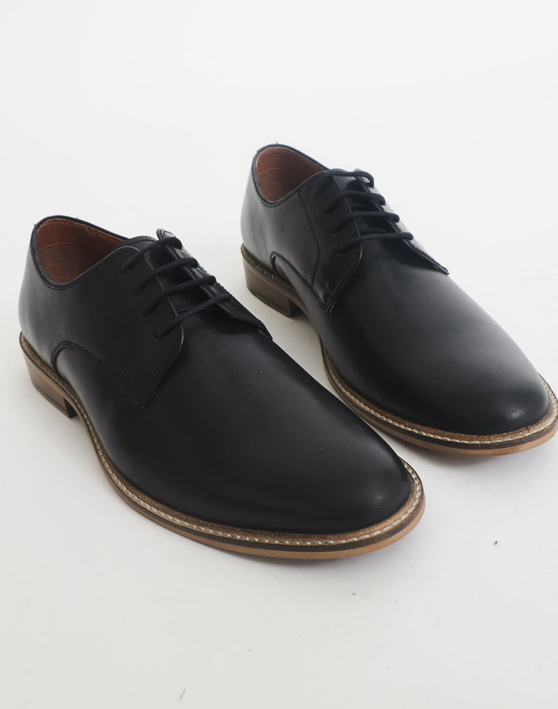 The Idle Man - Derby Shoe Black
