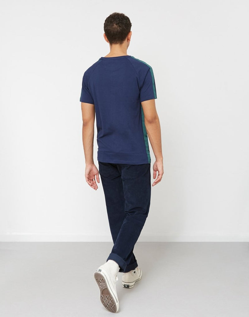 The Idle Man - Taped Seam T-Shirt Navy