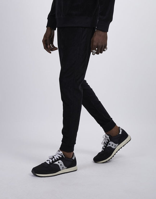 The Idle Man - Velvet Sweat Pant Black