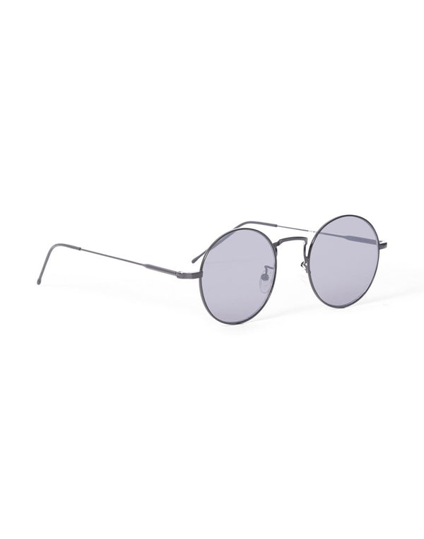 The Idle Man - Vintage Round Lens Sunglasses Black