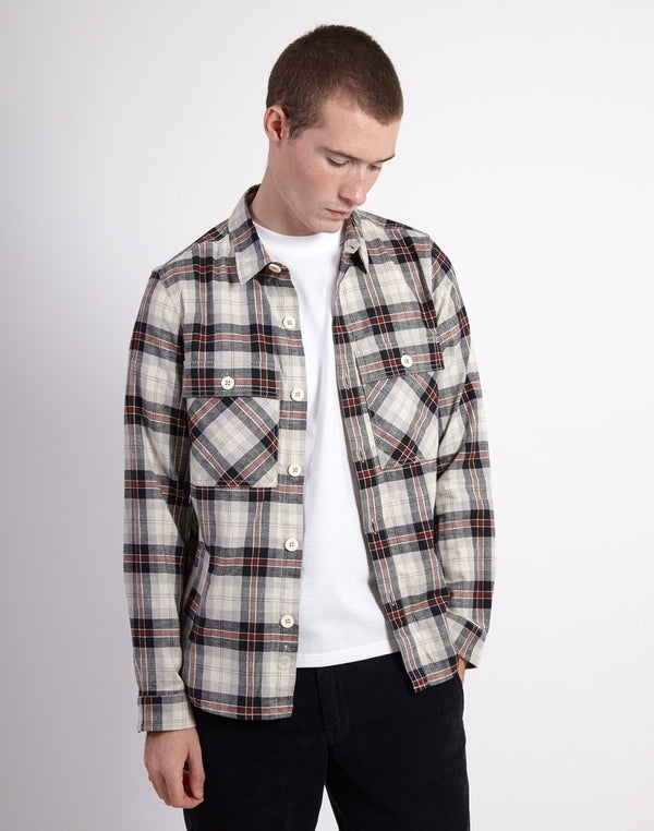 The Idle Man - Four Pocket Checked LS Overshirt