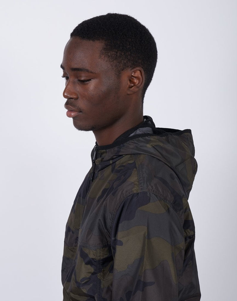 The Idle Man - Camo Light Weight Festival Mac Green