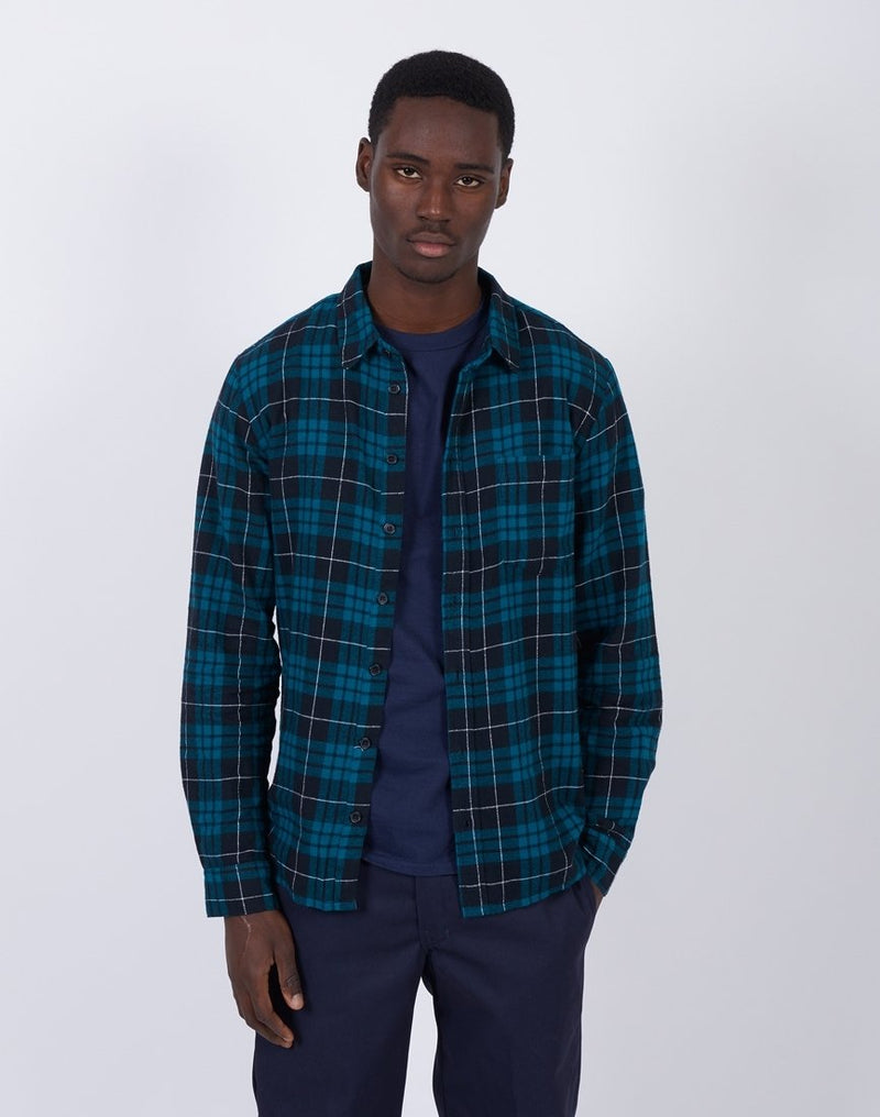 The Idle Man -Check Shirt Blue