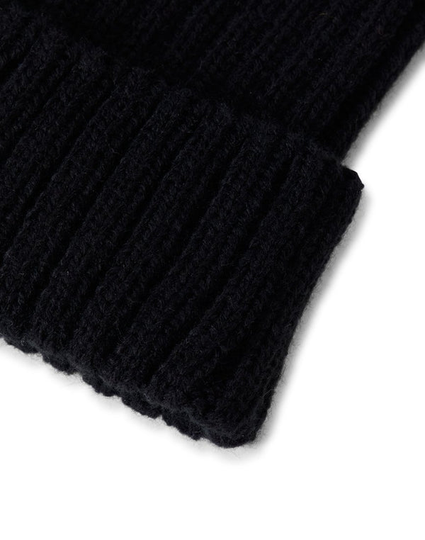 The Idle Man - Chunky Ribbed Beanie Black