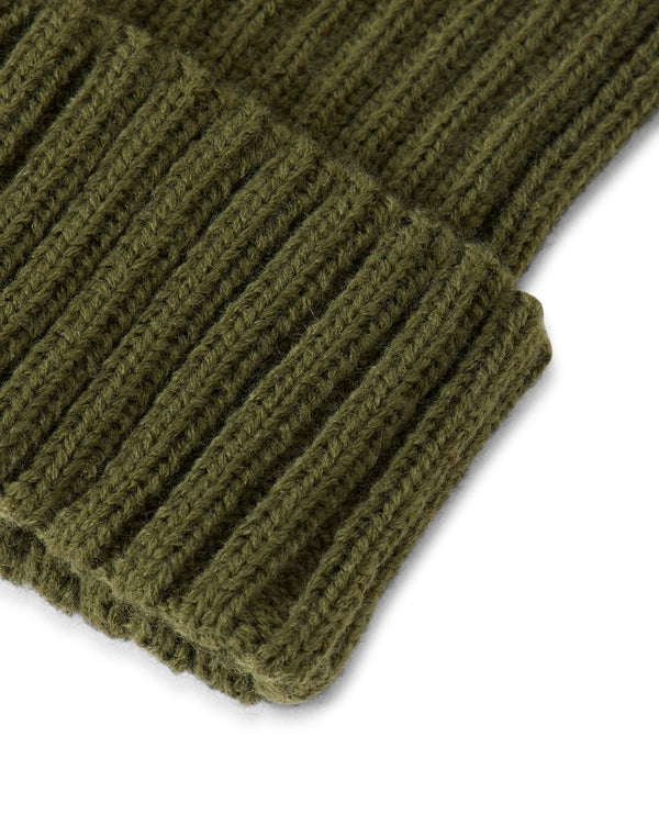 The Idle Man - Chunky Ribbed Beanie Green