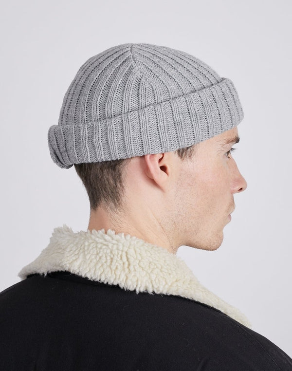 The Idle Man - Chunky Ribbed Beanie Grey