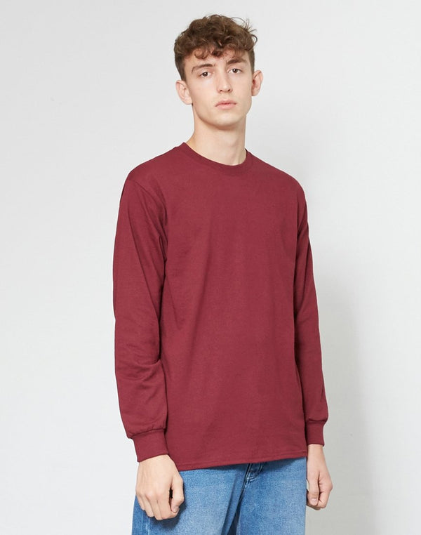 The Idle Man -Classic Long Sleeve T-Shirt Burgundy