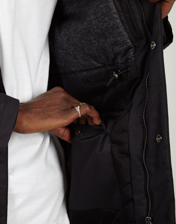 The Idle Man - Field Parka Black