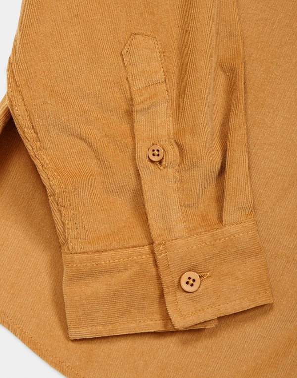 The Idle Man -Fine Corduroy Shirt Mustard