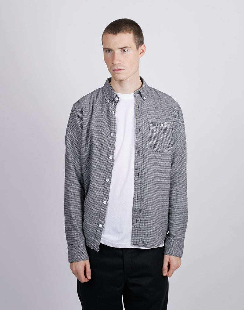 The Idle Man -Gingham Check Shirt Black & White