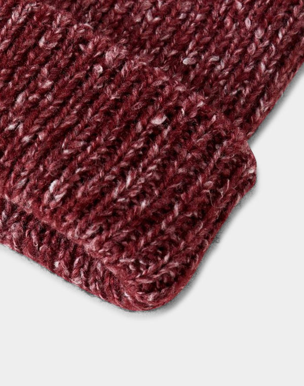 The Idle Man - Glencoe Beanie New Burgundy Fleck