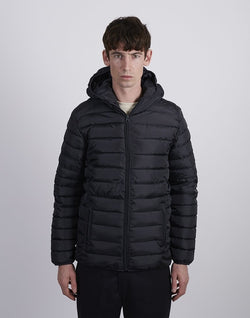 The Idle Man -Hooded Puffer Jacket Navy