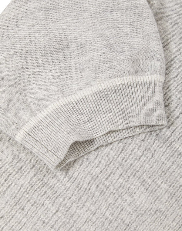 Knitted Retro Tipped T-shirt Grey