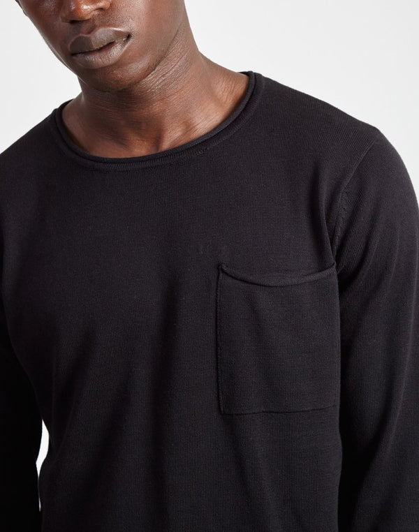 The Idle Man - Light Gauge Jumper Black