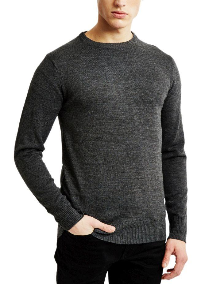 The Idle Man - Merino Jumper Grey