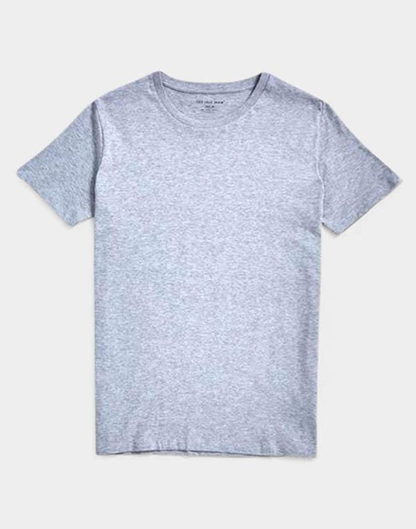 The Idle Man - Organic Crew Neck T-Shirt Grey
