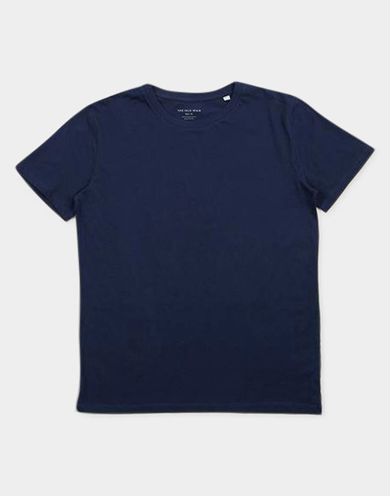 The Idle Man - Organic Crew Neck T-Shirt Navy