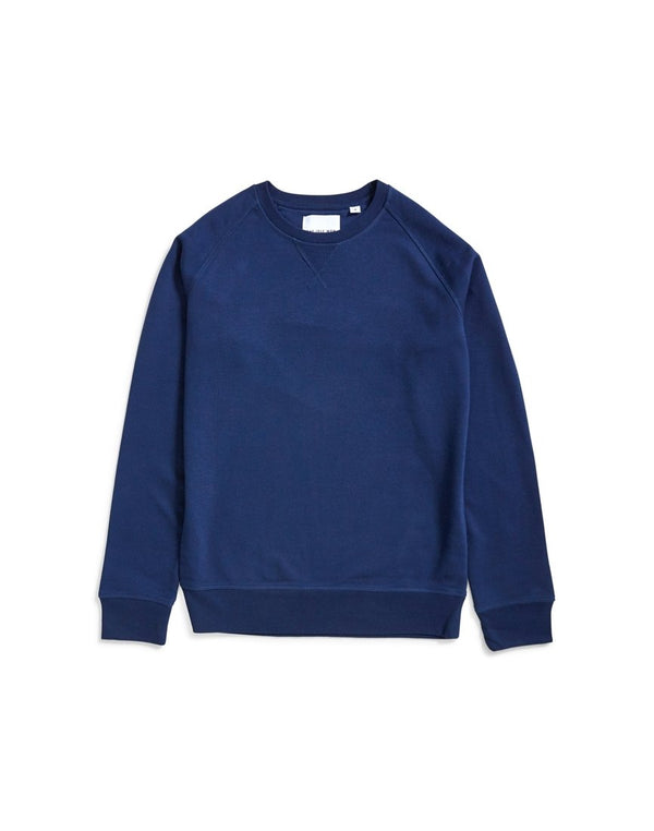 The Idle Man - Organic Raglan Sweatshirt Navy