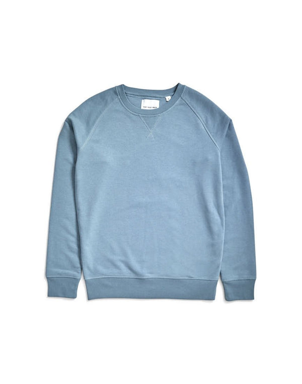 The Idle Man - Organic Raglan Sweatshirt Light Blue