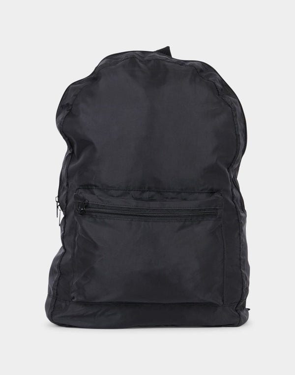 The Idle Man - Packaway Backpack Black