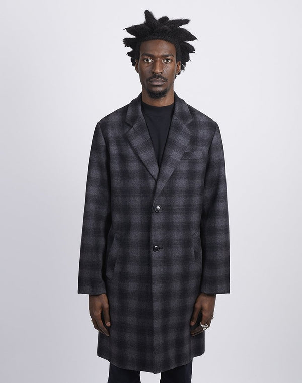 The Idle Man - Check Overcoat Grey