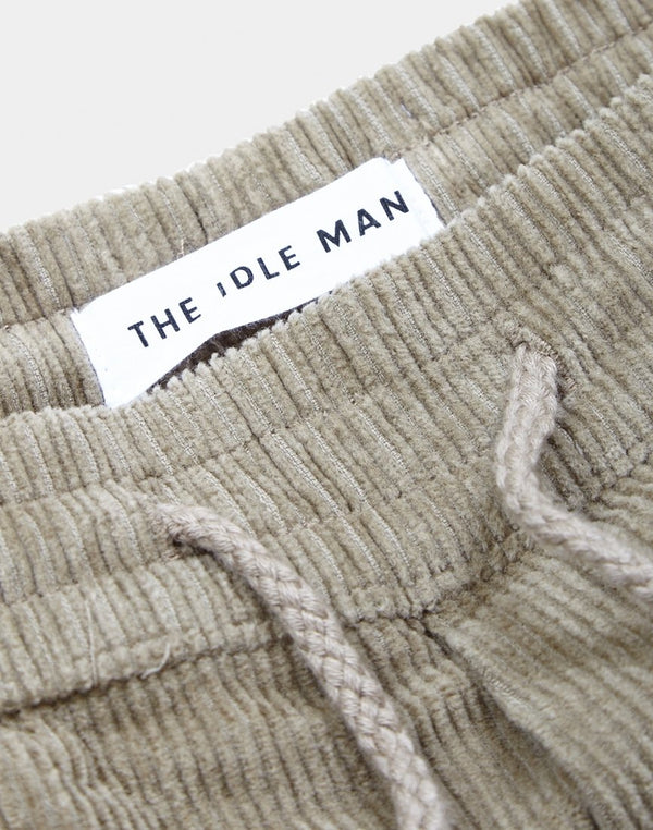 The Idle Man - Corduroy Relaxed Trousers Grey