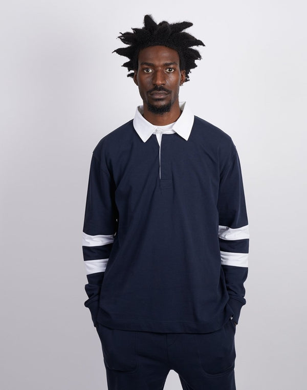 The Idle Man -Rugby Shirt Navy