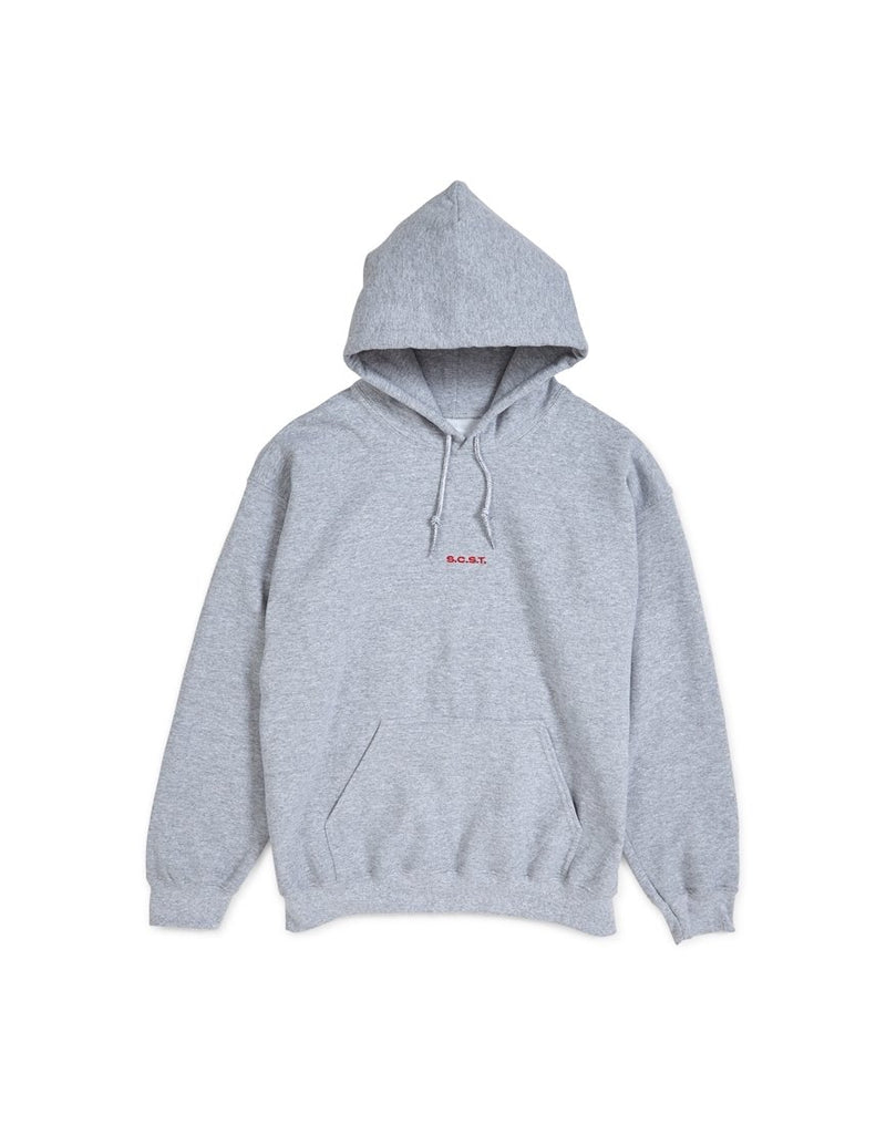 The Idle Man - S.C.S.T  Centre Placement Hoodie Grey