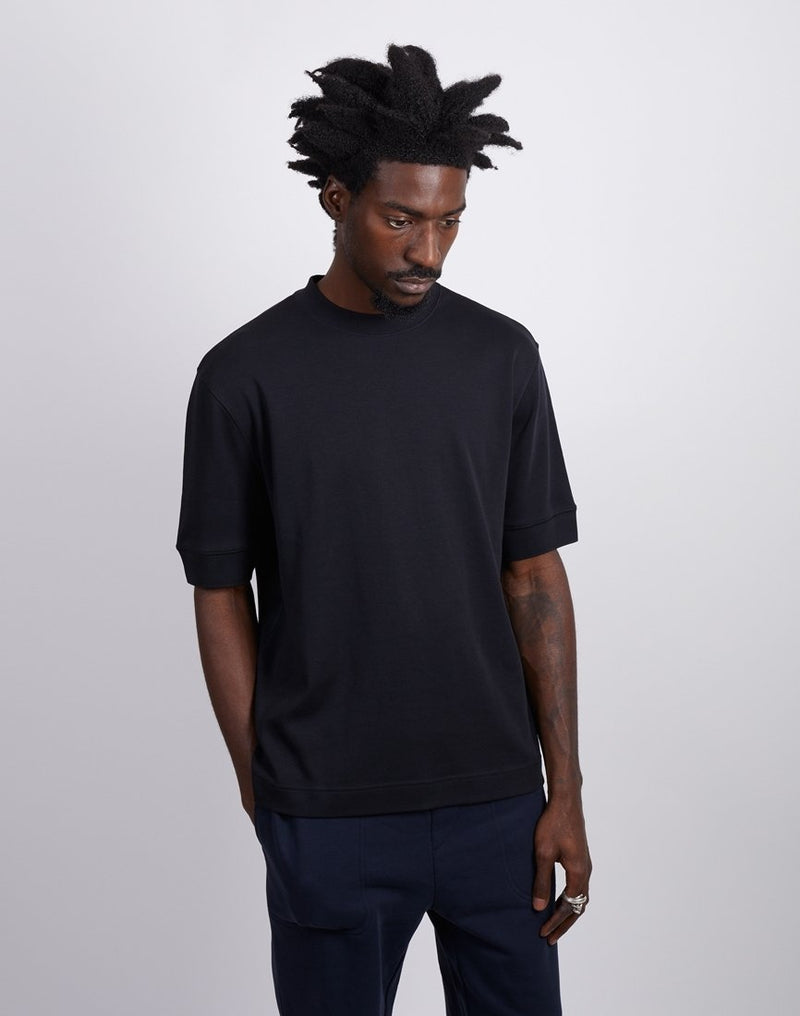 The Idle Man -Short Sleeve Gym Sweat Black