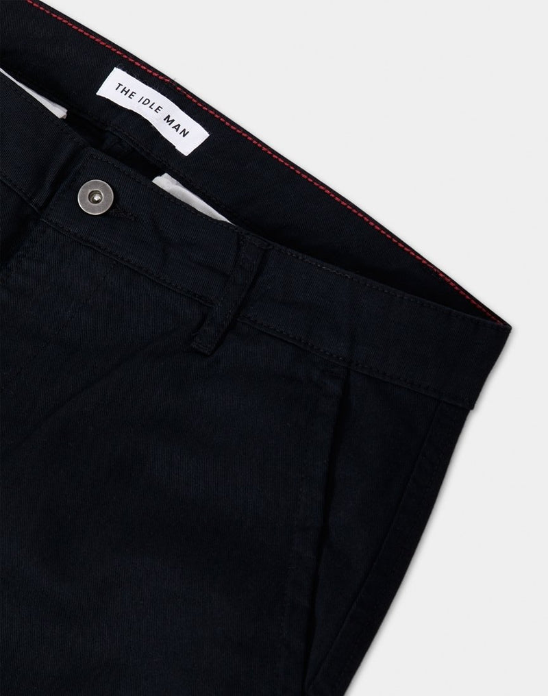 The Idle Man - Straight Leg Chino Black