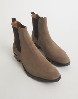 The Idle Man - Suede Chelsea Boot Grey