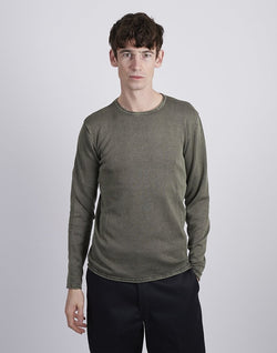 The Idle Man - Wash Crew Neck Khaki