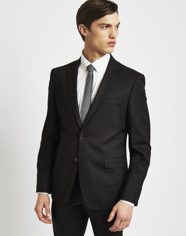 The Idle Man - Suit Jacket in Slim Fit Black
