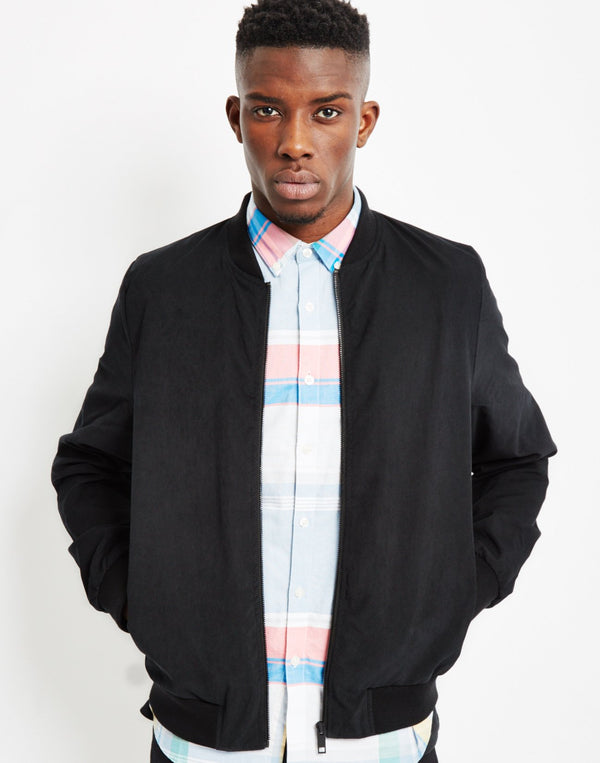 The Idle Man - Bomber Jacket Black