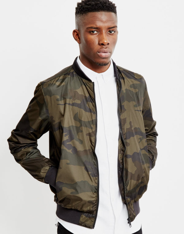 The Idle Man - Camo Bomber Jacket
