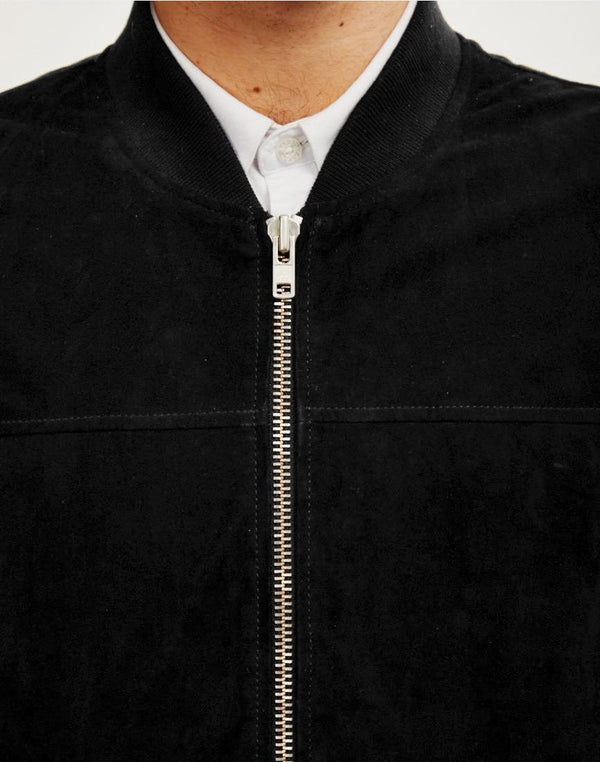 The Idle Man - Suede Bomber Black