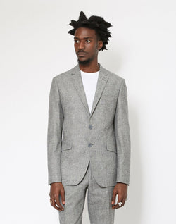 The Idle Man - Pure Wool Tweed Blazer Grey