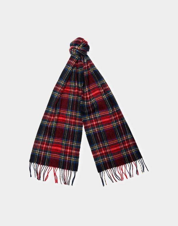 Barbour - New Check Tartan Scarf Black
