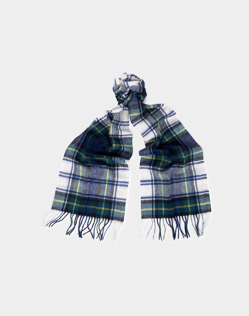 Barbour - New Check Tartan Scarf White & Green