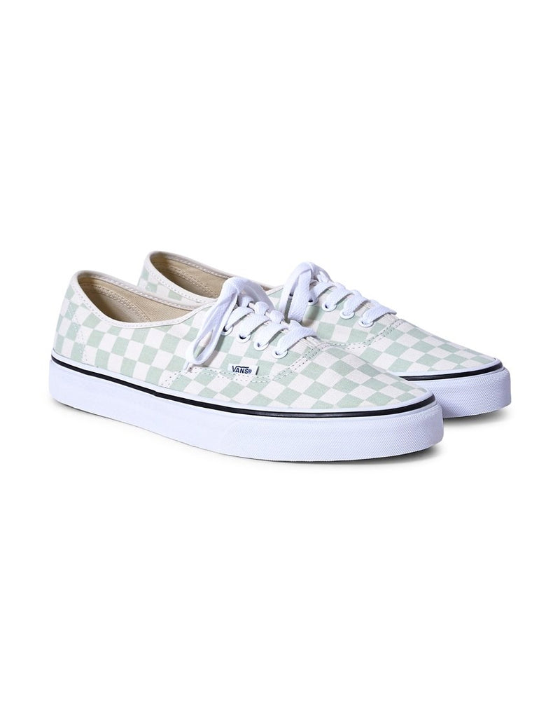 Vans - Authentic Canvas Plimsolls Green & White Checks