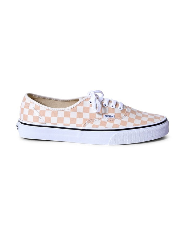 Vans - Authentic Canvas Plimsolls Orange & White Checks