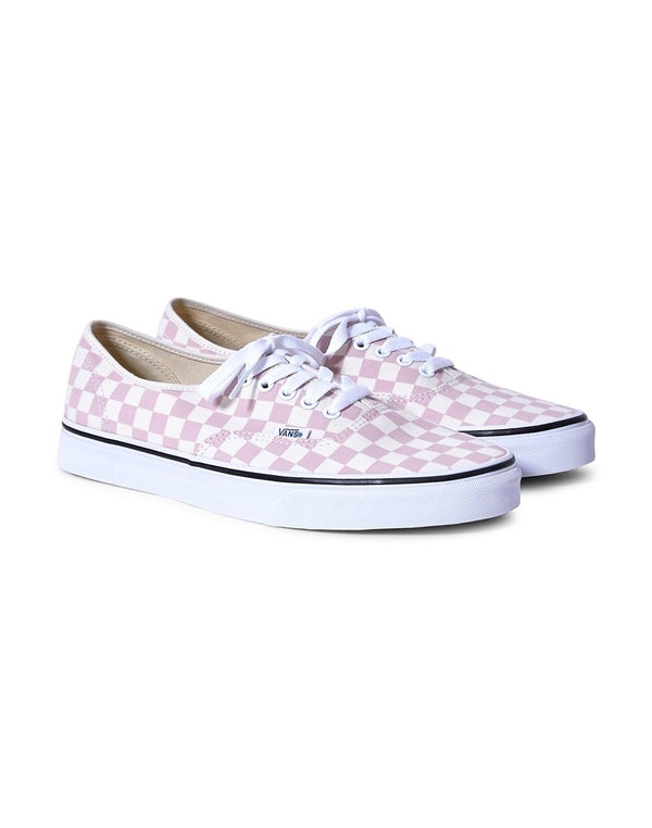 Vans - Authentic Canvas Plimsolls Pink & White Checks